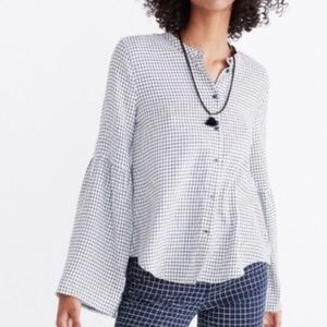Madewell Bell-sleeve button-down top